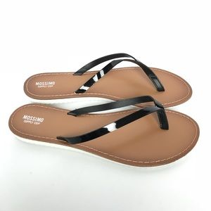 Mossimo Black Patent Flip Flop Thong Sandals 10